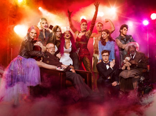 L-R: Annaleigh Ashford, Ivy Levan, Tim Curry, Reeve Carney, Christina Milian, Laverne Cox, Staz Nair, Victoria Justice, Ryan McCartan, Adam Lambert and Ben Vereen in THE ROCKY HORROR PICTURE SHOW: LET'S DO THE TIME WARP AGAIN premiering Thursday, Oct. 20 (8:00-10:00 PM ET/PT) on FOX.