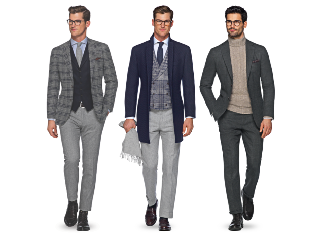 A trio of Suitsupply looks for the fall season.