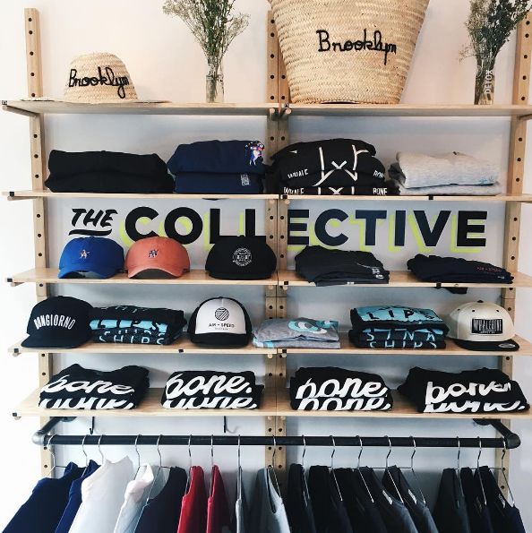 The End's merch wall.