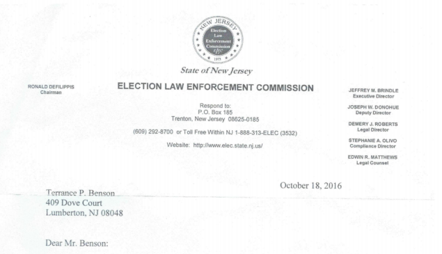 ELEC memos show investigations into every member of the Lumberton, NJ township committee.