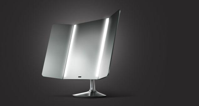 SimpleHuman Sensor Mirror Pro Wide-View, $400, Simplehuman.com.