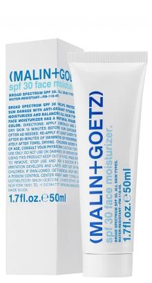 Malin + Goetz SPF 30 Face Moisturizer, $36, Malinandgoetz.com.