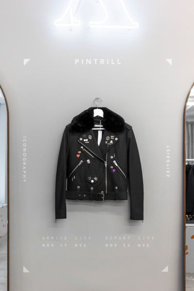 The Arrivals jacket decorated by Pintrill.