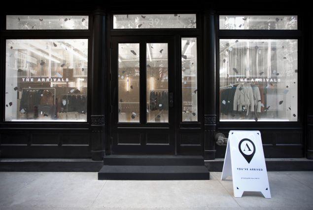 The Arrivals pop-up shop.