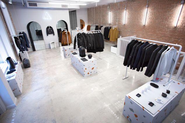 Inside The Arrivals shop.
