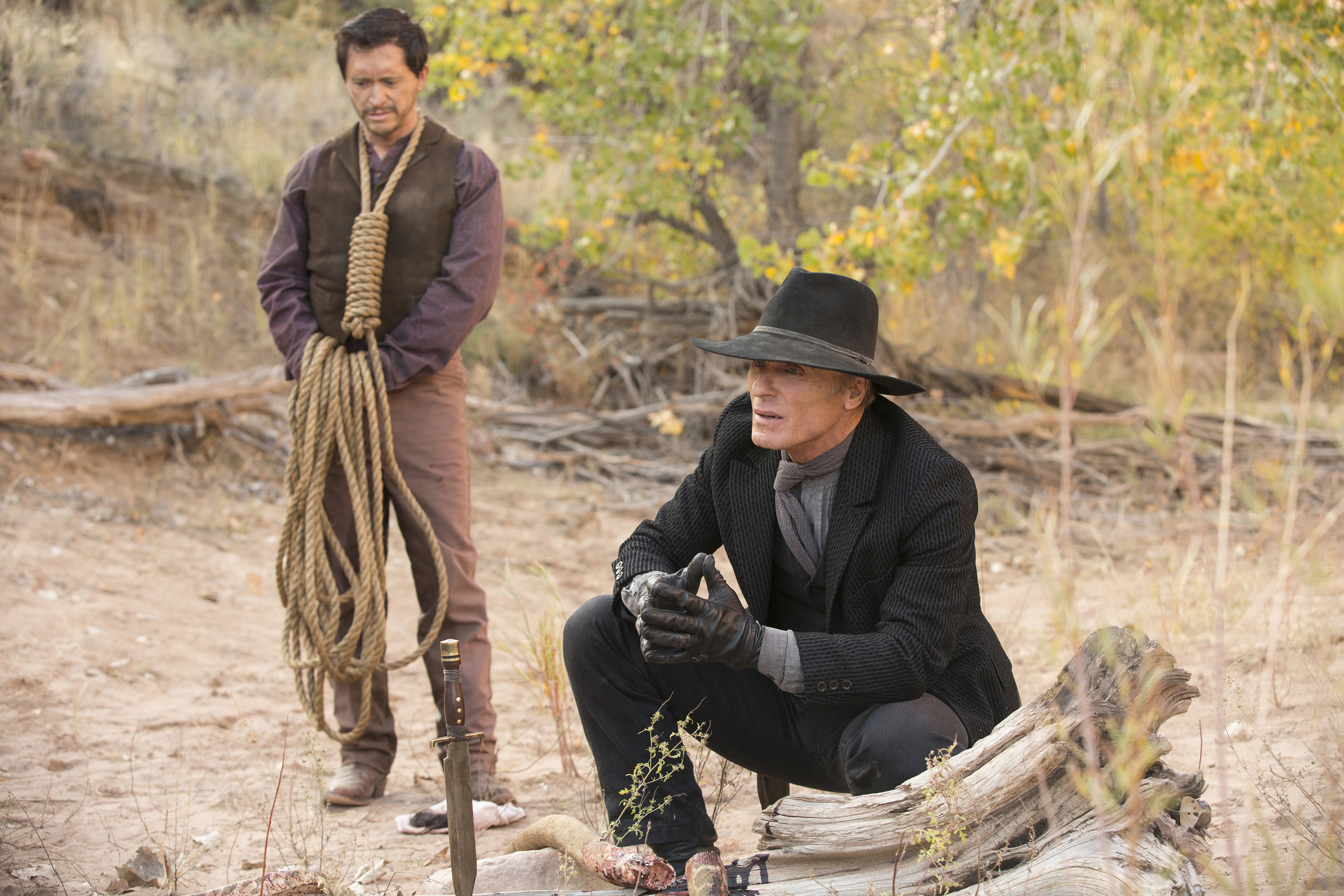 Clifton Collins, Jr. and Ed Harris.