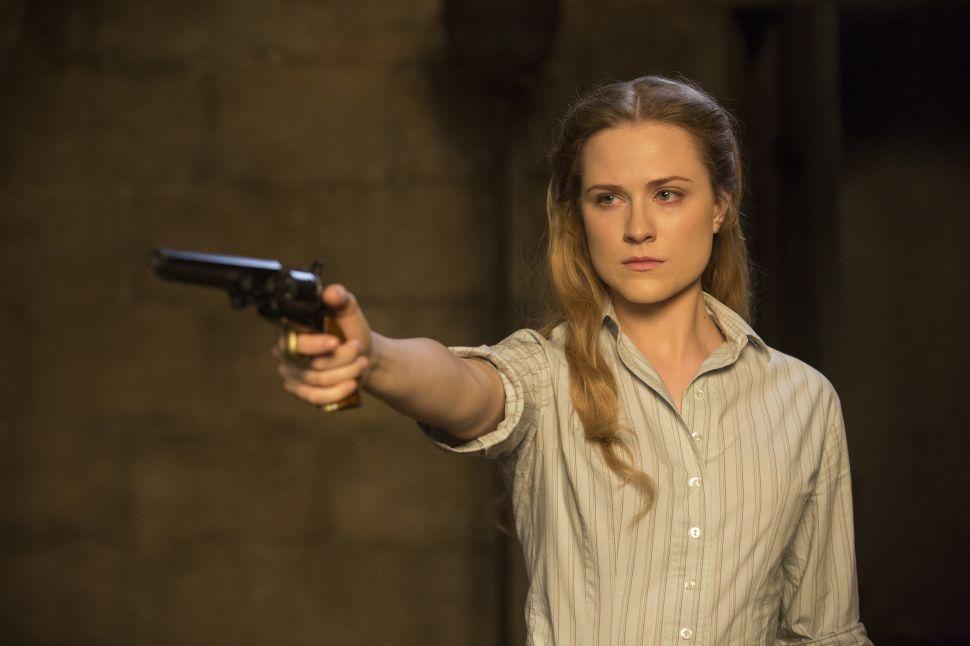 Evan Rachel Wood as Dolores.