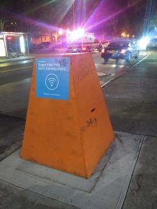Wi-fi kiosk holding spot