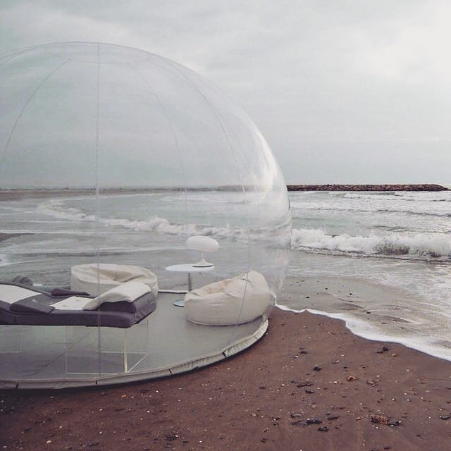Customize your very own bubble cabin.