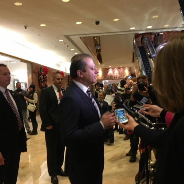 U.S. Attorney Preet Bharara addresses reporters after meeting with President-Elect Donald Trump at Trump Tower.