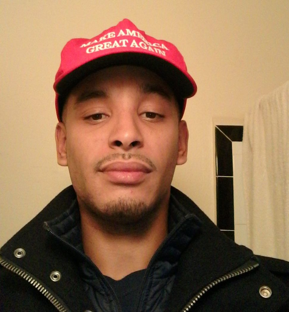 Thomas Arrington, a college student in Queens, was confronted by fellow students over his support for Donald Trump.
