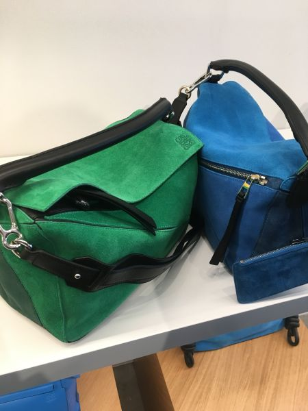 These suede Puzzle bags can be yours!