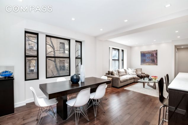 The apartment is located in a prewar co-op on the Upper West Side.