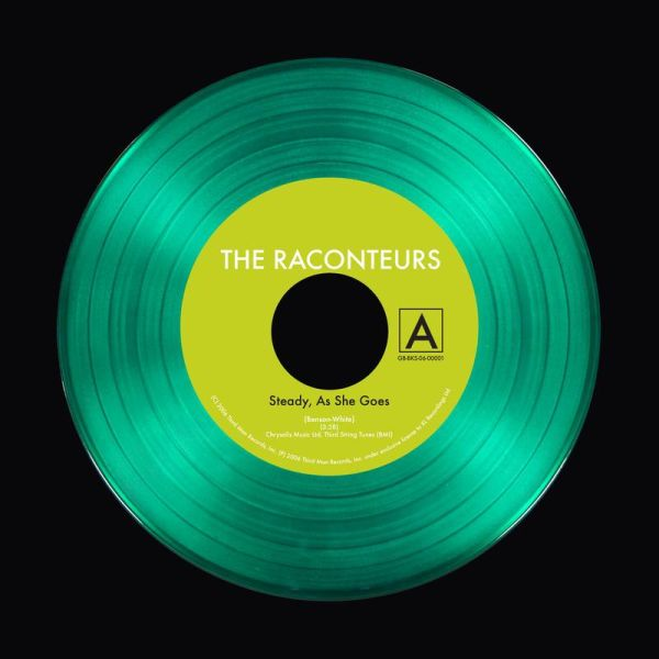 Jack White's side project The Raconteurs release a special-edition see-through emerald green 7-inch.