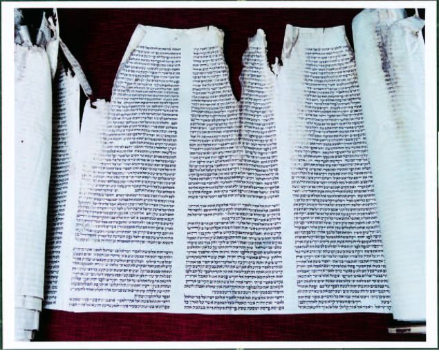 Shearith Israel Torah Scroll Vandalized by the British during the Revolutionary War.