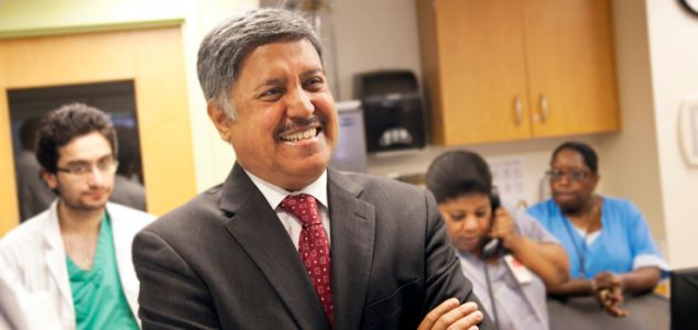 Dr. Ram Raju, president of NYC Health + Hospitals, is stepping down at the end of the month.