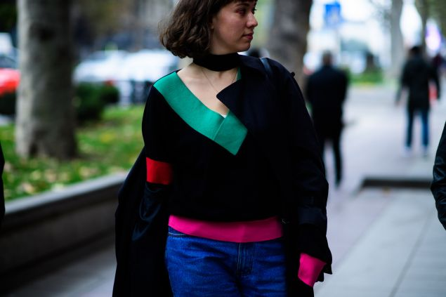 A George Keburia sweater spotted on the streets of Tbilisi.