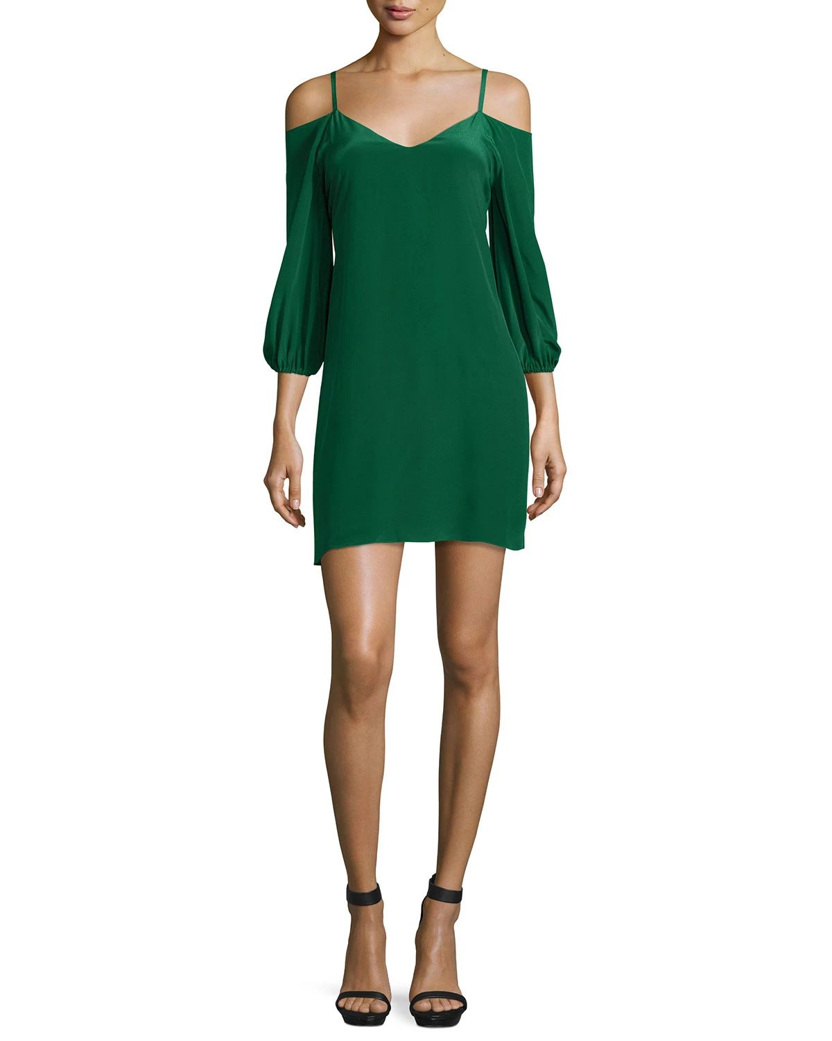 Alice + Olivia, Carli Cold-Shoulder Crepe Mini Dress, $275