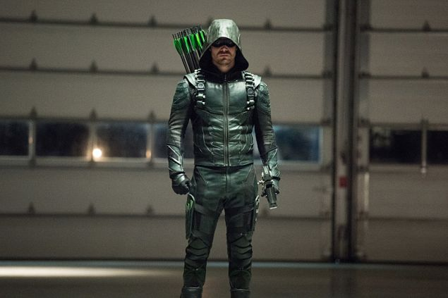 Stephen Amell as The Green Arrow.