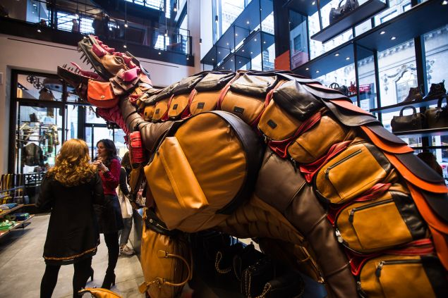 Rexy is made from 400 Coach bags.