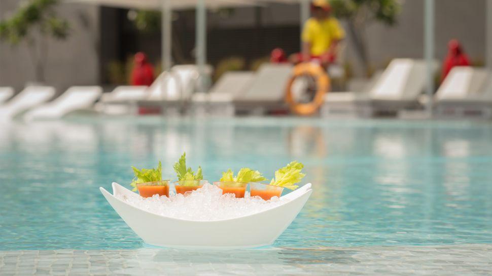 Poolside cocktails by Nick Braun at The InterContinental Dubai Marina
