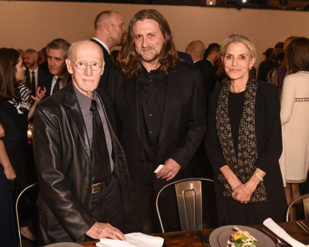 From left: Robert Morris, Wade Guyton, Dorothy Lichtenstein.