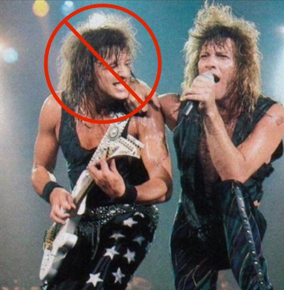 Richie Sambora and Jon Bn Jovi.