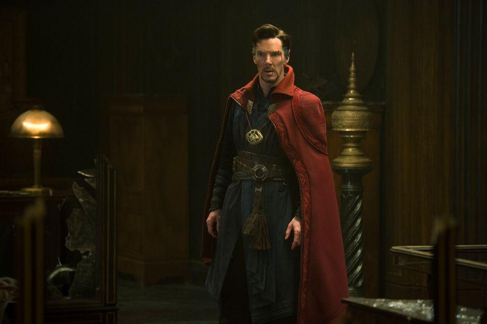Benedict Cumberbatch as Stephen Strange.