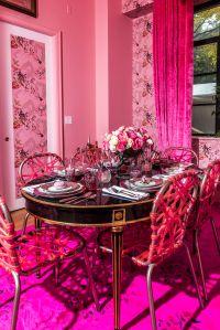 Sasha Bikoff went all pink.