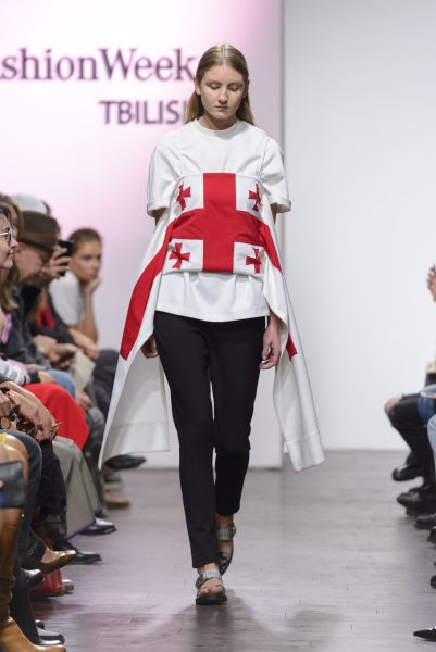 A Situationist shirt was emblazoned with the Georgian flag.