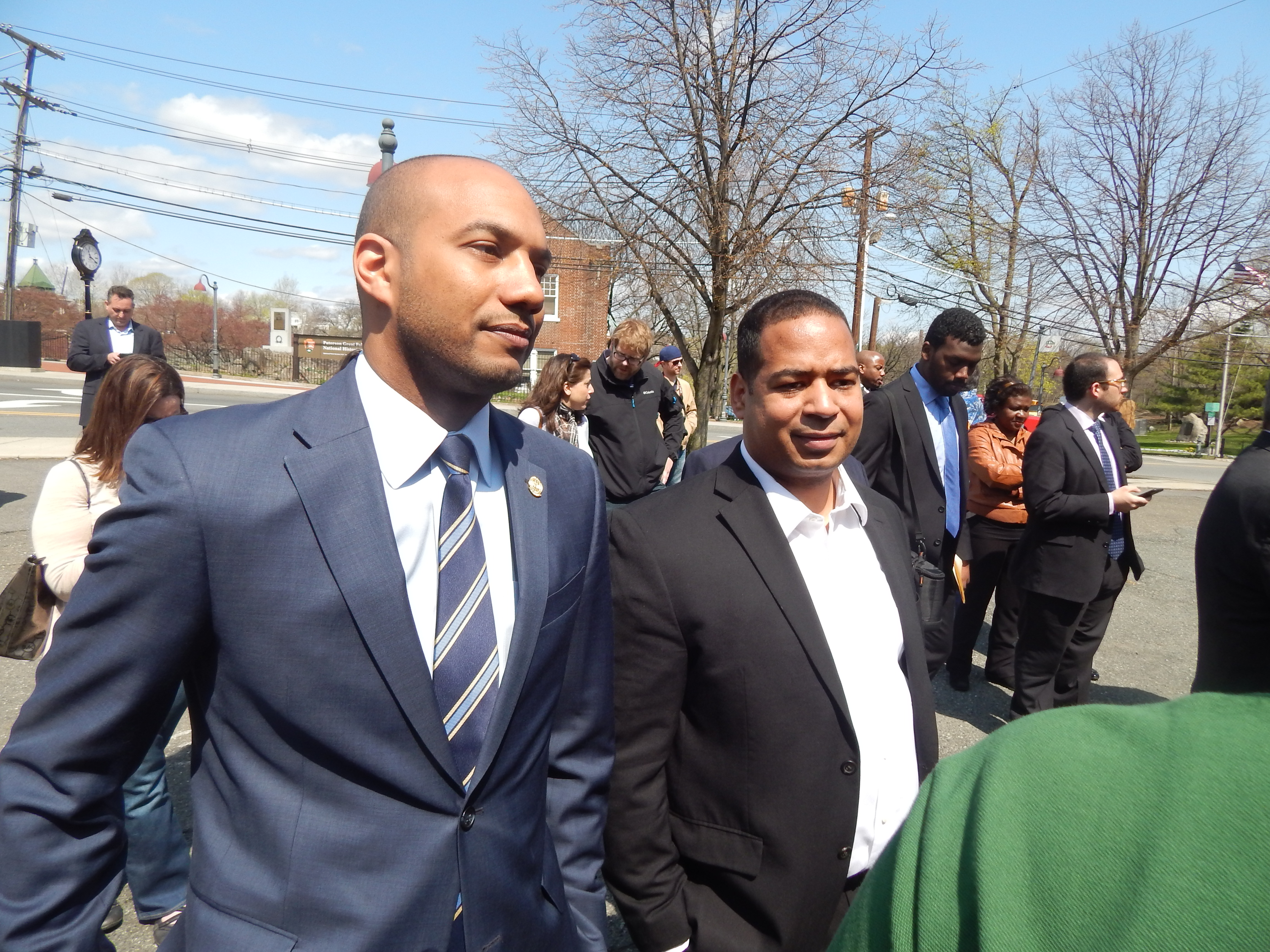 Lora (right) with Freeholder TJ Best.