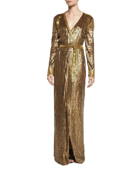 Diane von Furstenberg, Ariel Armour Embellished Wrap Dress, $2,200