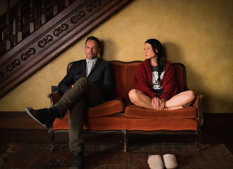 Jonny Lee Miller as  Sherlock Holmes and  Lucy Liu as Joan Watson.