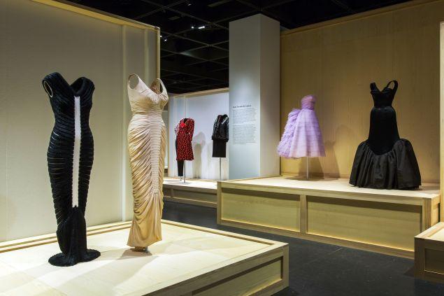 Dresses on display at The Met.