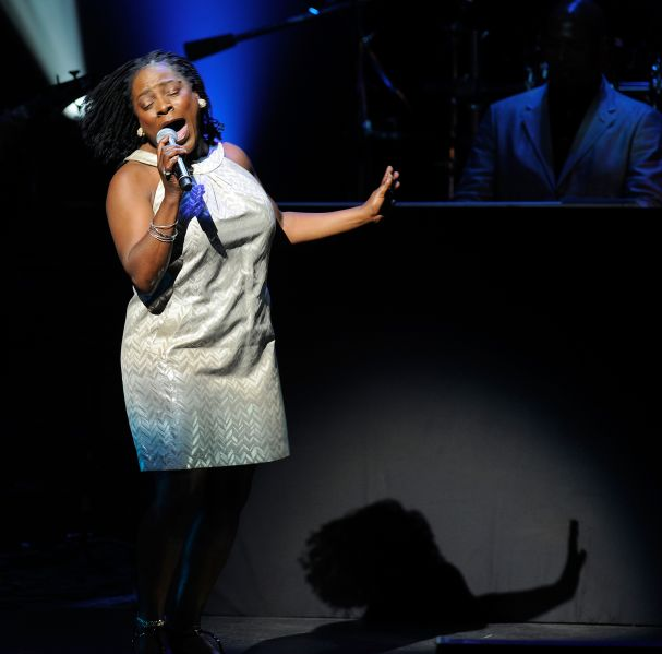 Singer Sharon Jones performs at the 2010 Apollo Theater Spring Benefit Concert & Awards Ceremony at The Apollo Theater on June 14, 2010 in New York City.