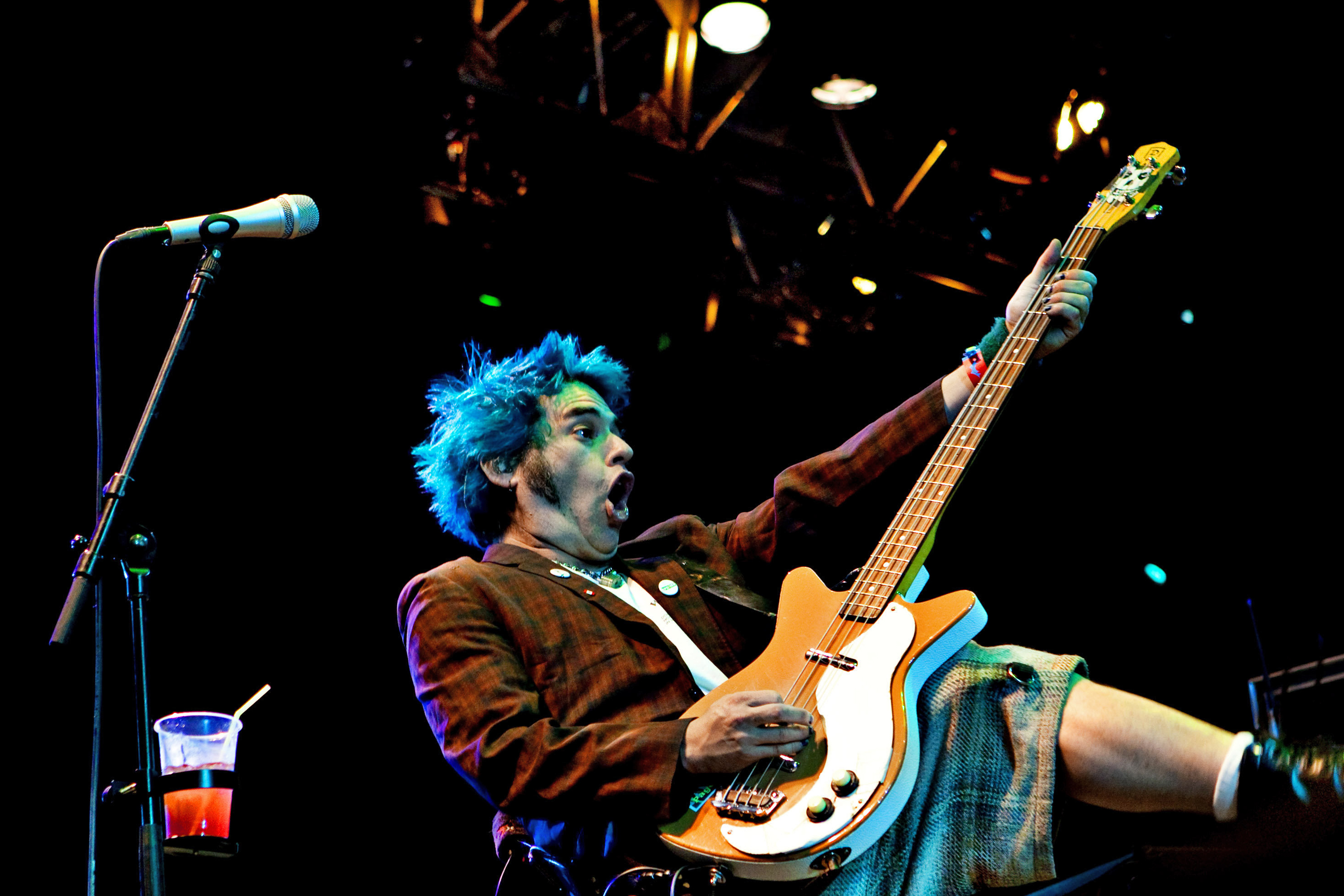 Fat Mike performing with NOFX.