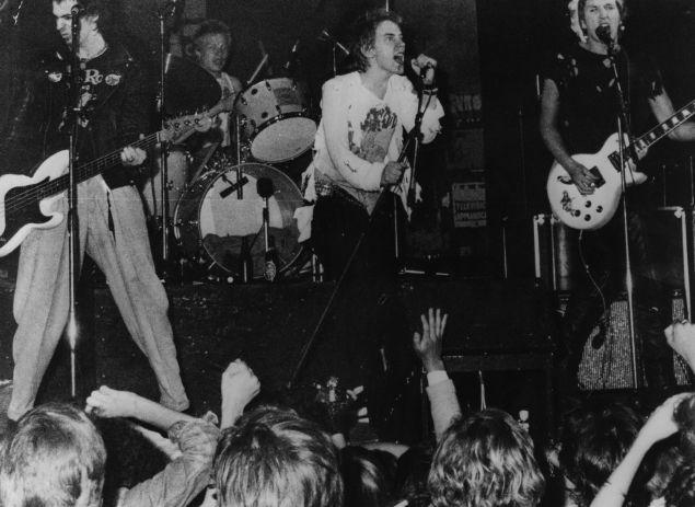 The Sex Pistols playing in Copenhagen.