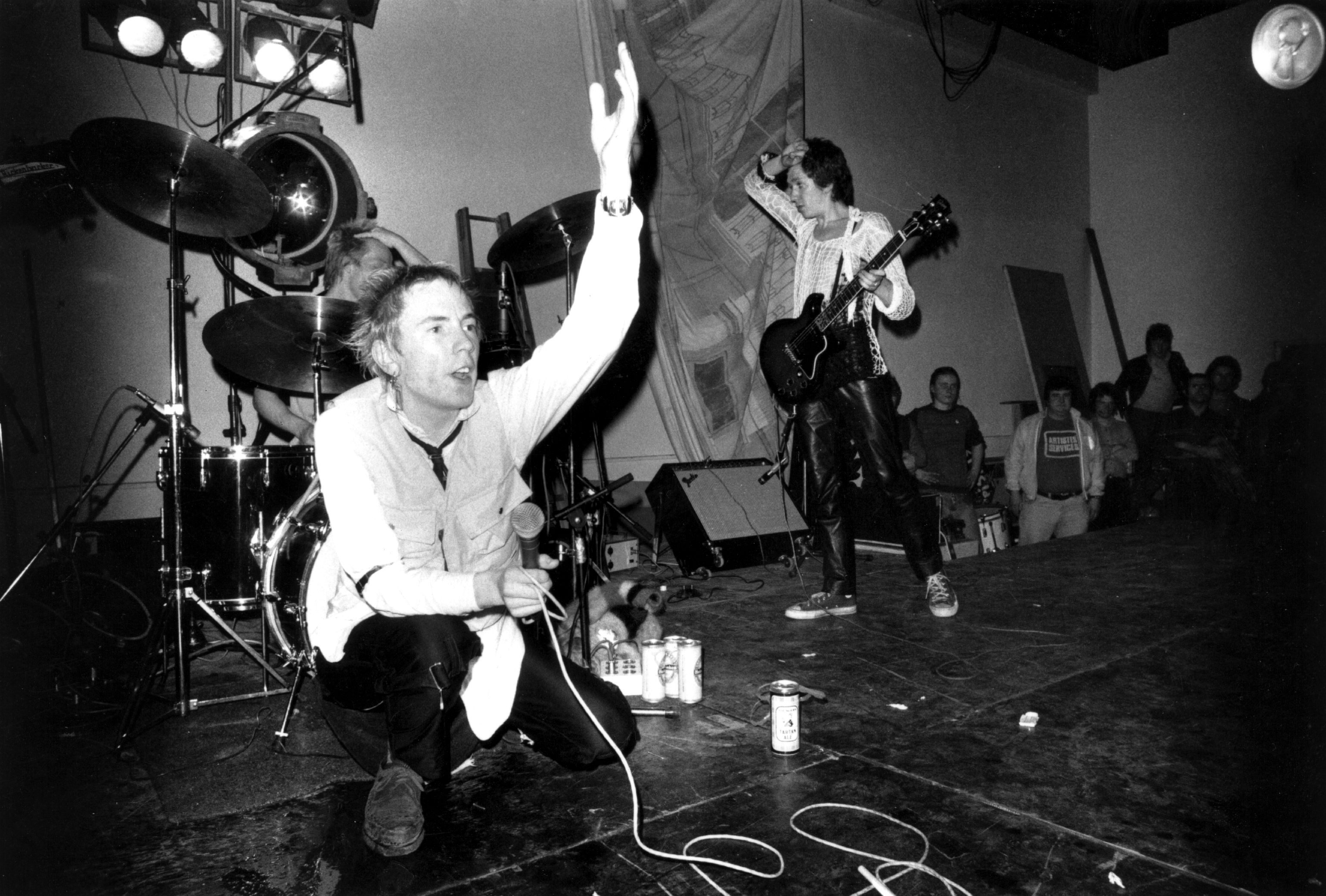 The Sex Pistols performing at Leeds Polytechnic, UK, on December 8, 1976.