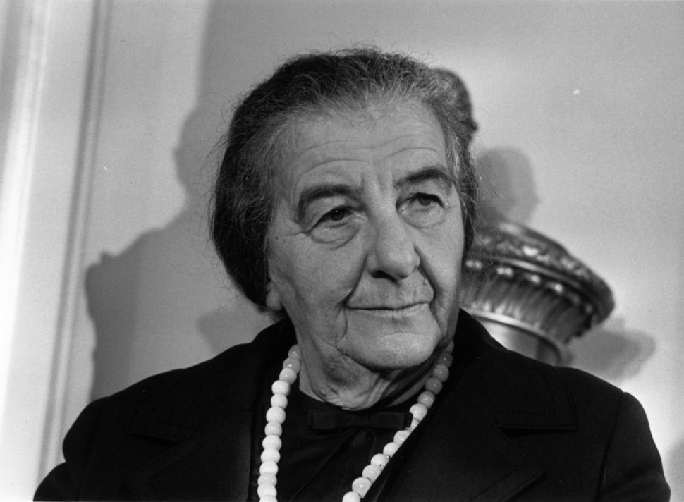 5th November 1970:  Israeli Prime Minister Golda Meir (Golda Mabovich, 1898 - 1978) at a London Press Conference.
