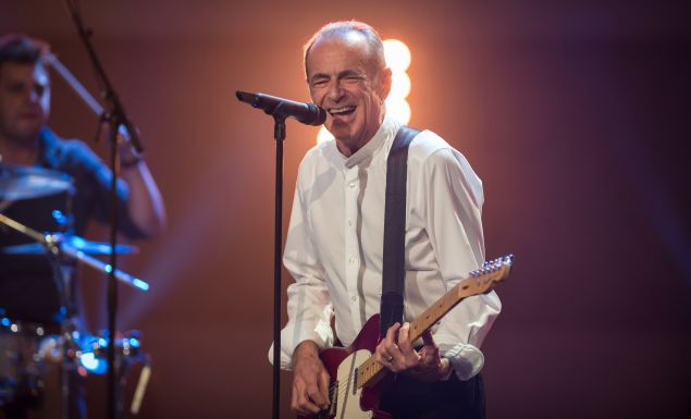 Francis Rossi of Status Quo performs on stage during the TV-Show 'Gabalier - Die Volks-Rock'n'Roll-Show' on August 30, 2014 in Fuessen, Germany.