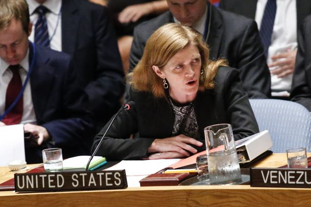 Samantha Powers, United States Ambassador to the United Nations.