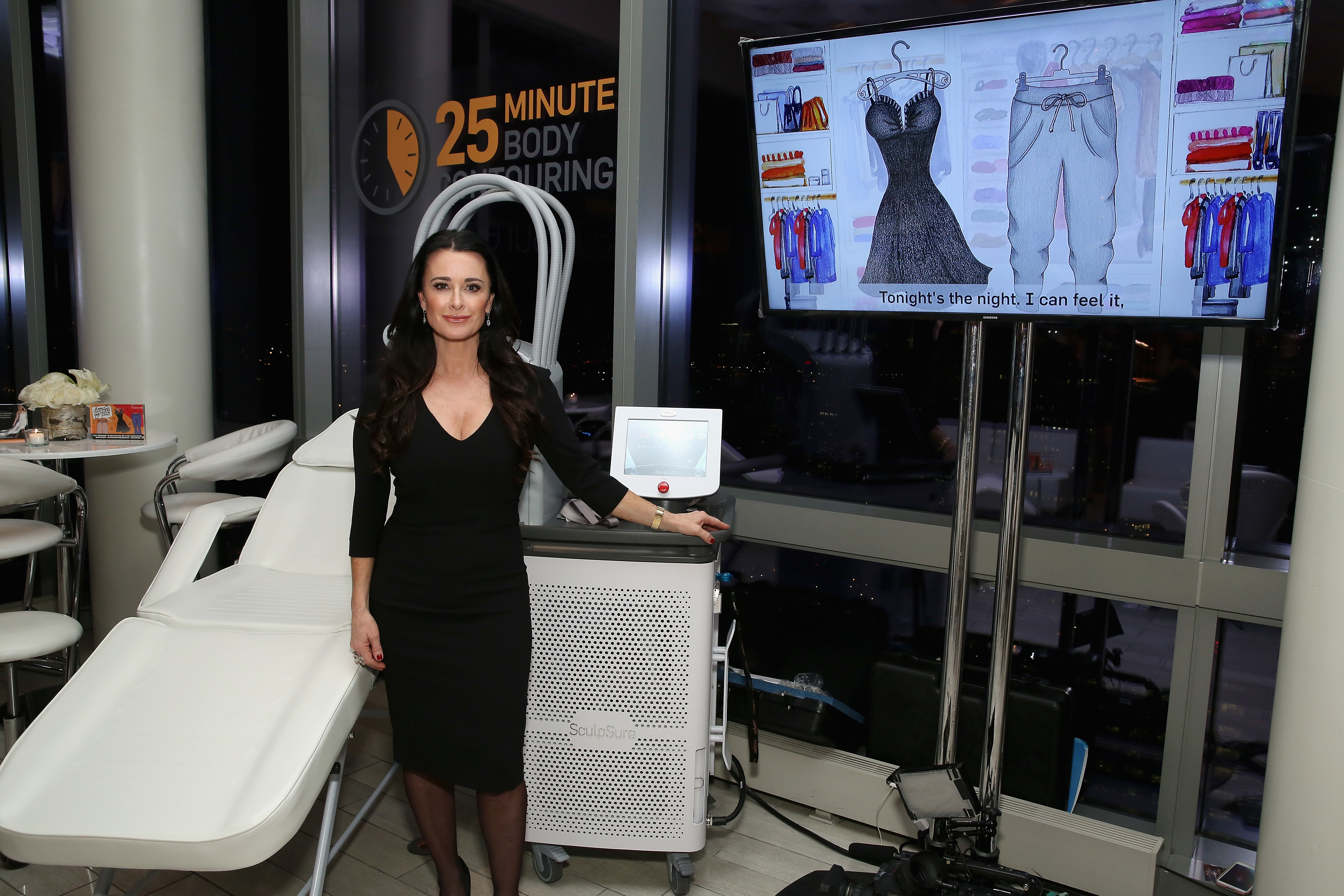 Kyle Richards with SculpSure, the world's first light-based laser body contouring treatment.