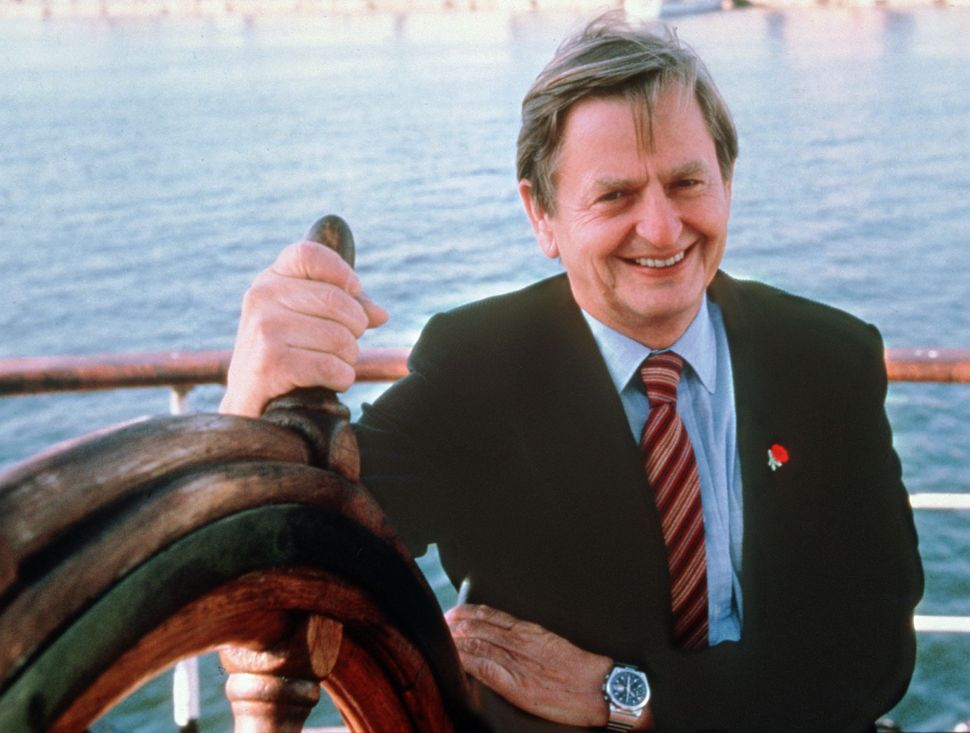 STOCKHOLM, SWEDEN: Portrait dated of the eighties of Swedish Prime Minister Olof Palme in Stockholm. Olof Palme was killed 28 February 1986 by a lone gunner in central Stockholm. According to a Turkish daily, captured Kurdish rebel leader Abdullah Ocalan has accused 27 February his ex-wife of ordering the assassination of late Swedish Prime Minister.
