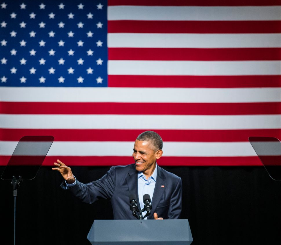 President Barack Obama speaks at a private Democratic National Committee event at Gilley's Club Dallas on March 12, 2016 in Dallas, Texas.