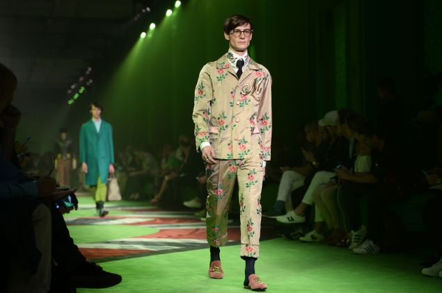 From the Gucci Summer 2017 fashion show.
