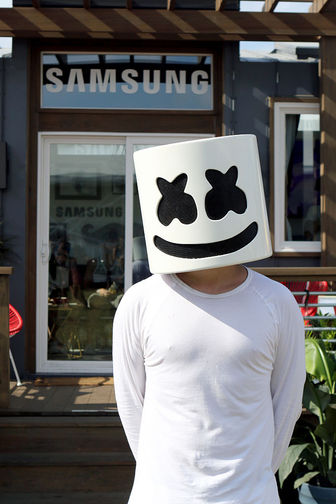 Join your new pal Marshmello in the DJ booth.