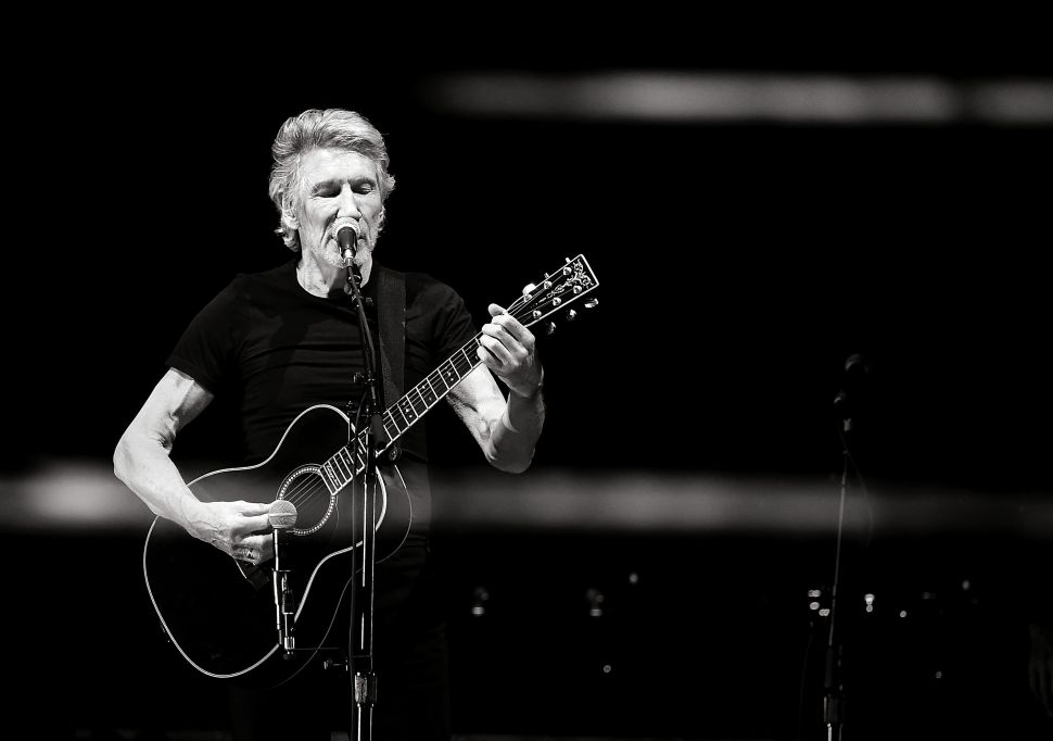 INDIO, CA - OCTOBER 16: (EDITORS NOTE: Image has been converted to black and white.) Musician Roger Waters performs during Desert Trip at the Empire Polo Field on October 16, 2016 in Indio, California.