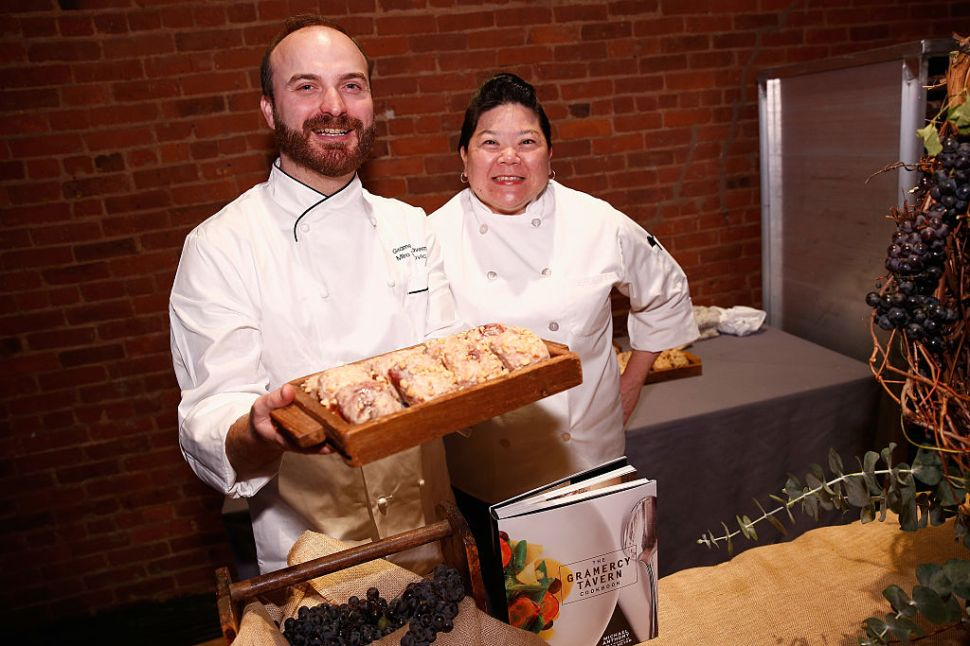 Chef Miro Uskokovic (L) of Gramercy Tavern attends the 2016 New York Taste presented by Citi hosted by New York Magazine on November 1, 2016 in New York City. (Photo by Brian Ach/Getty Images for New York Magazine)