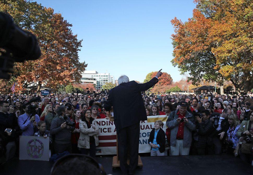 Sen. Bernie Sanders speaks during a rally on Capitol Hill, November 17, 2016 in Washington, DC.