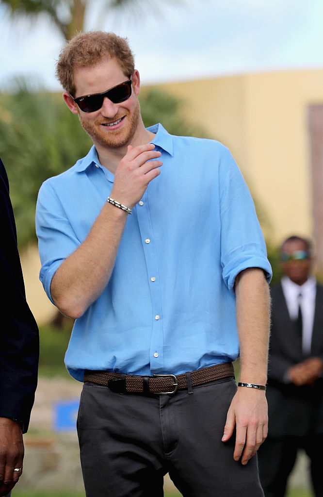 Prince Harry attends a youth sports festival at Sir Vivian Richards Stadium showcasing Antigua and Barbuda's national sports, on the second day of an official visit to the Caribbean on November 21, 2016 in Antigua, Antigua and Barbuda. Prince Harry's visit to The Caribbean marks the 35th Anniversary of Independence in Antigua and Barbuda and the 50th Anniversary of Independence in Barbados and Guyana.